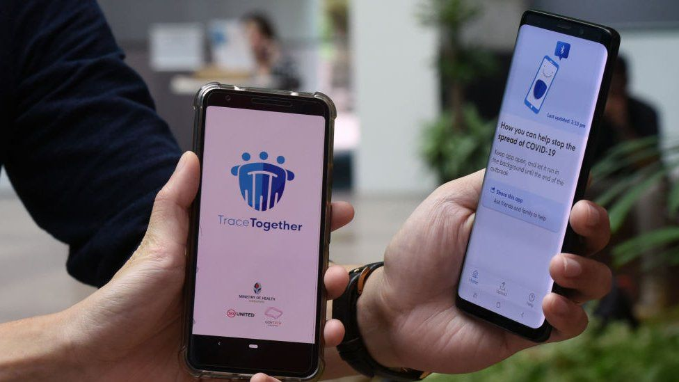Singapore's contact tracing app TraceTogether