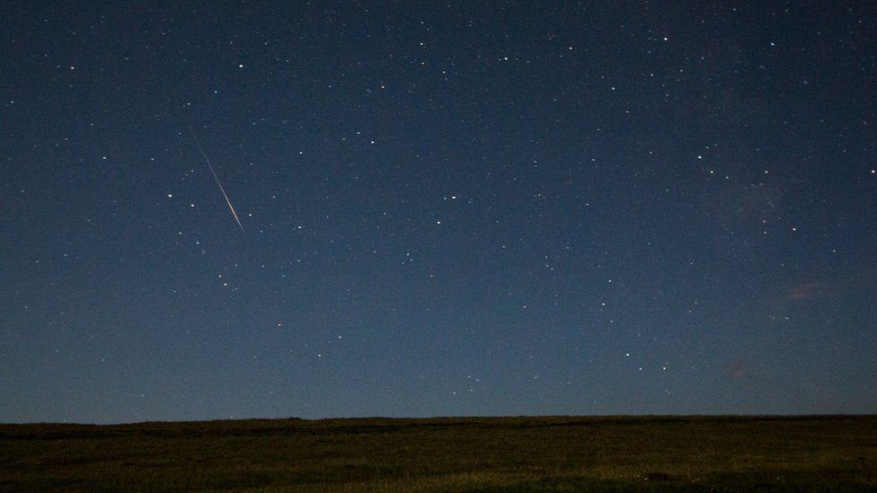 Perseid meteor shower in Eastbourne
