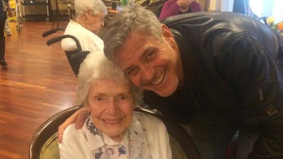 Pat Adams and George Clooney