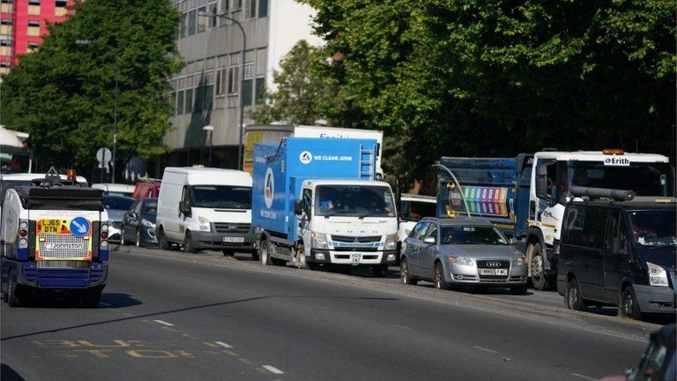 Traffic on Marylebone Road