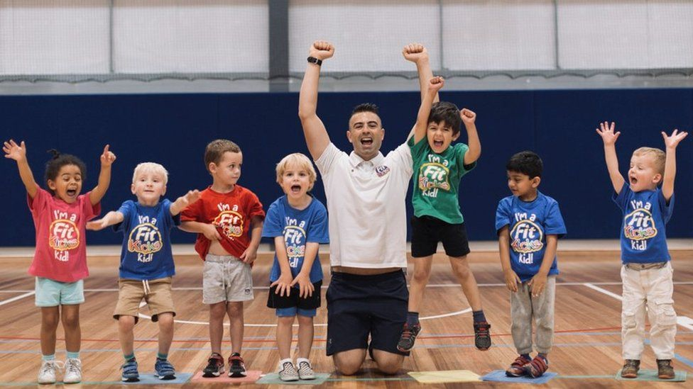 Kids at a Fit Kicks class