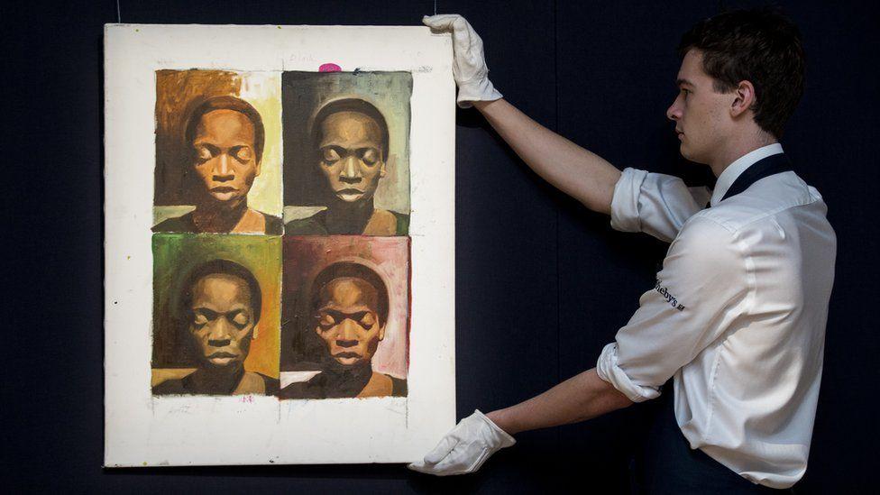 A la Warhol by Njideka Akunyili Crosby