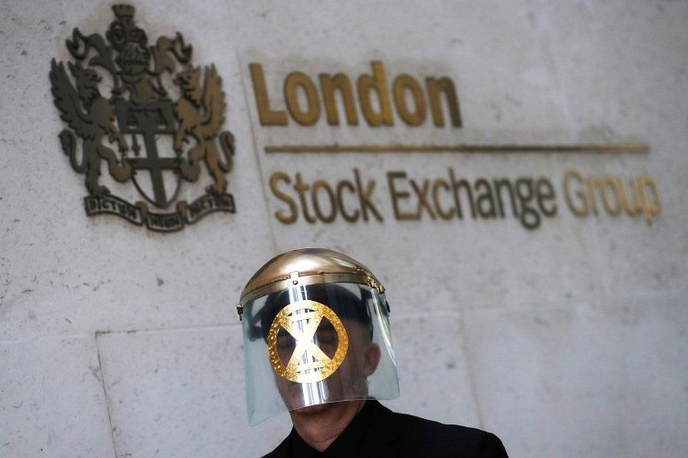 London Stock Exchange protester