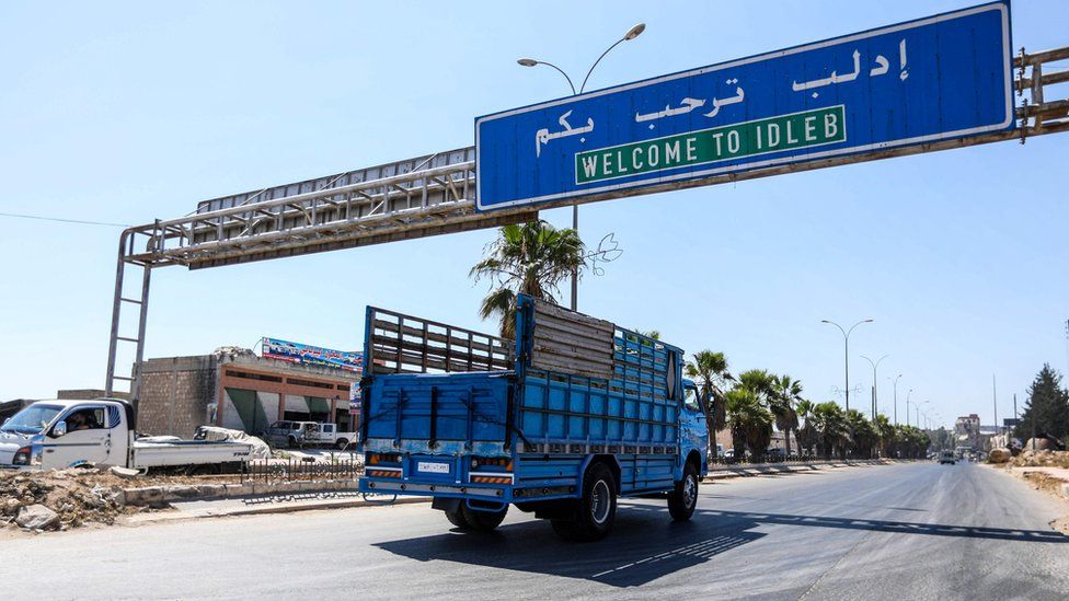 Welcome to Idlib sign