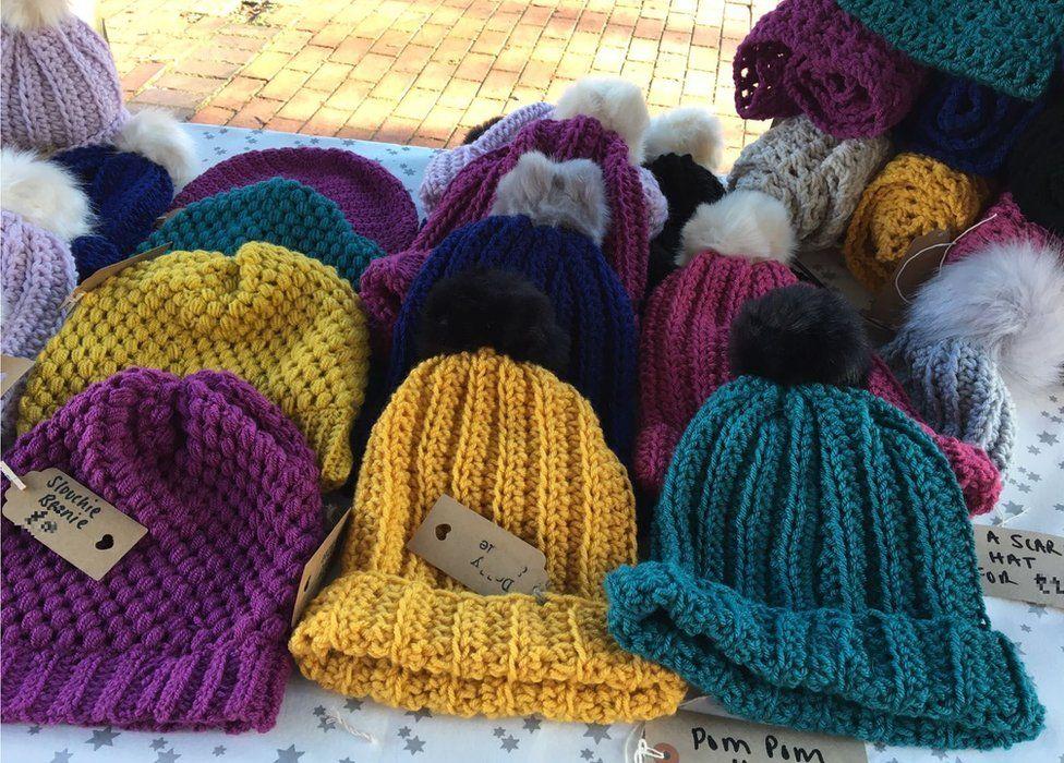 Rebecca Webb's beanie hats