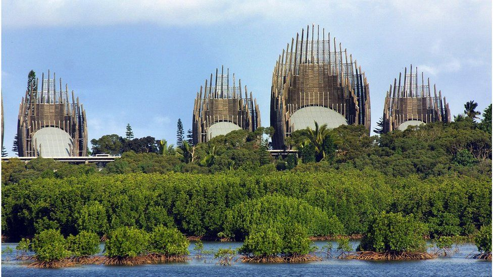 Cultural Center Tjibaou in Noumea, capital of New Caledonia