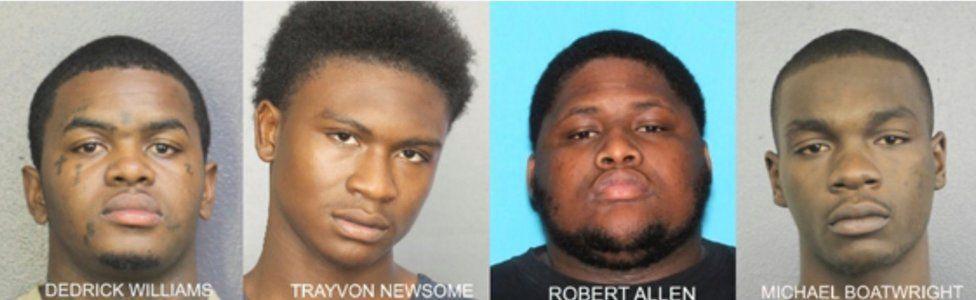 Dedrick Williams, Trayvon Newsome, Robert Allen, Michael Boatwright