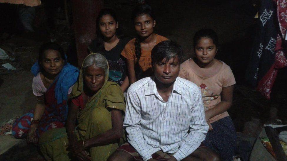 Subrat Kumar Padhihary and his family