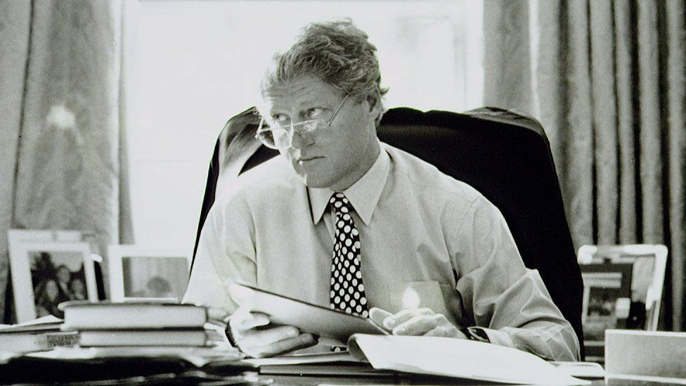 President Bill Clinton in the White House