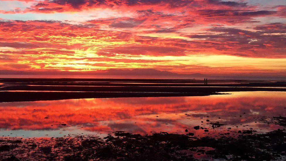 Sunset over Barassie Beach