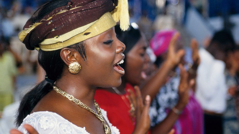 A church service in Accra Ghana - archive