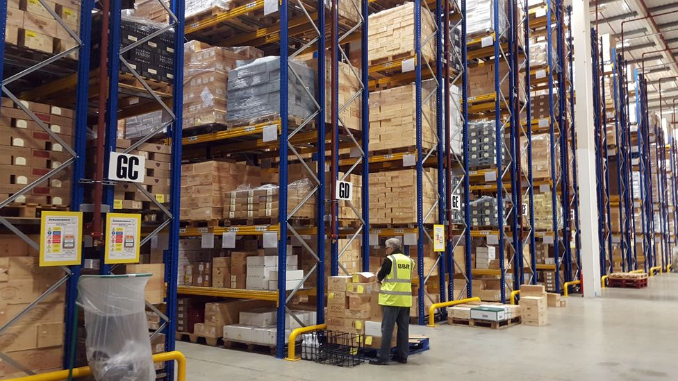 One of BBR's two vast warehouses
