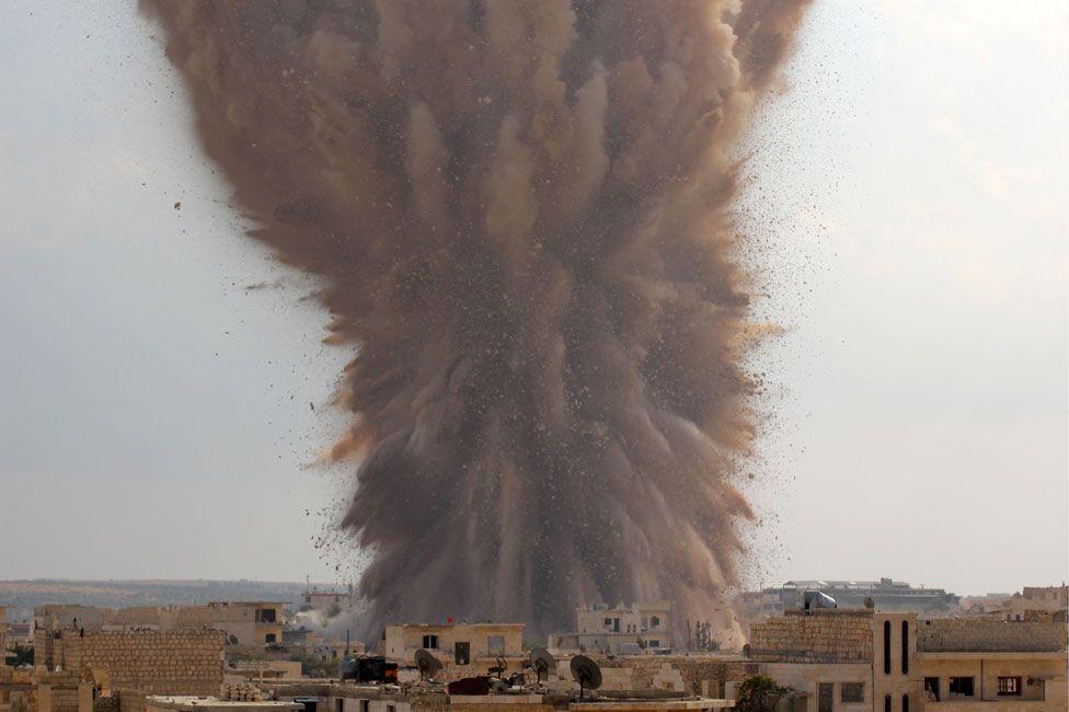 Explosion caused by Ahrar al-Sham