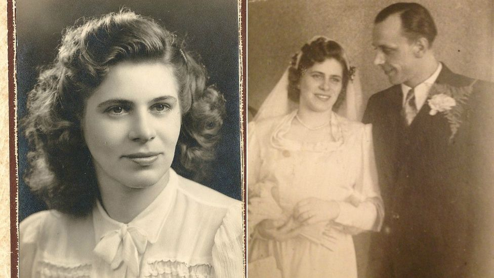 Hedwig Bercu (left) and with husband