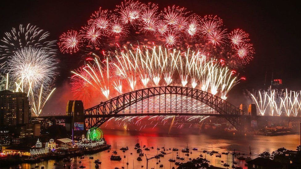 Sydney's New Year fireworks in 2018