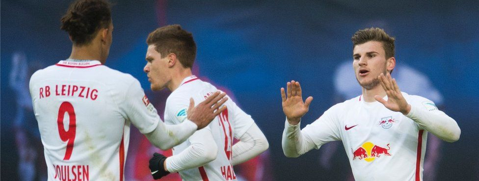 Timo Werner scores against Hoffenheim on 28 Jan
