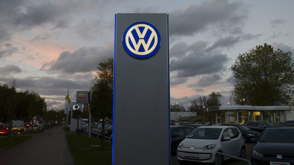 VW dealership pictured in Hamburg, Germany in 2013