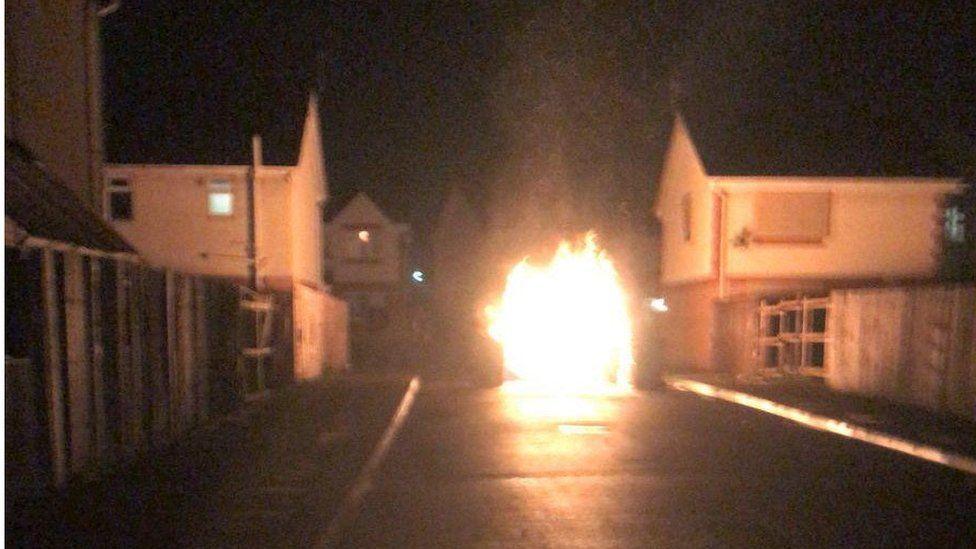 Arson attack in Merseyside