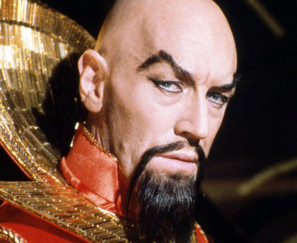 Swedish actor Max von Sydow as Emperor Ming the Merciless in Flash Gordon
