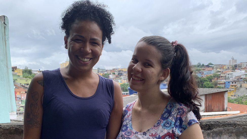 Danie Sampaio and Vitoria Maria de Oliveira