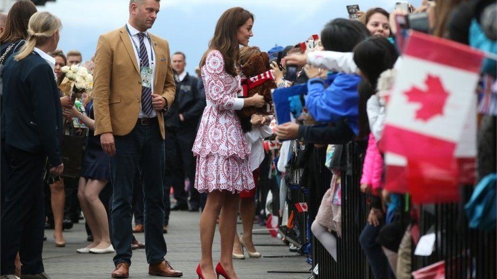 Duchess of Cambridge on walkabout