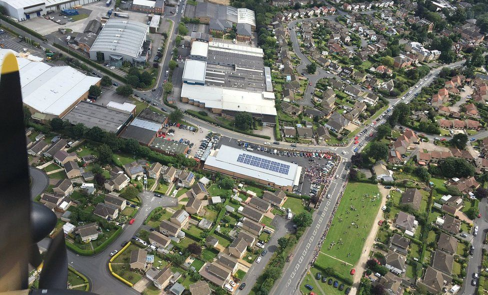 Aldi store from above
