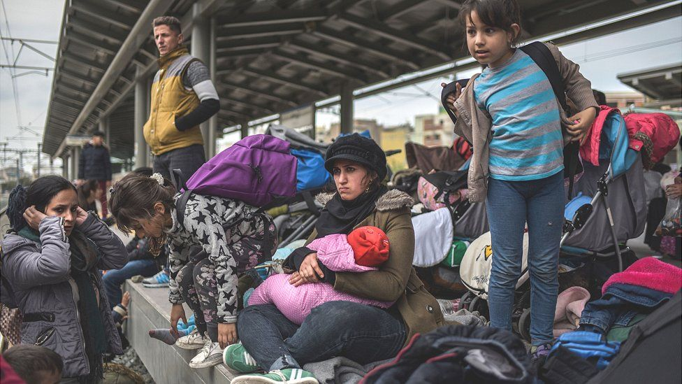 Migrant protest at Larissis station, Athens, 5 Apr 19
