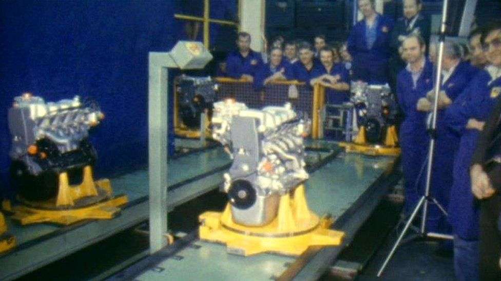 The 500,000th engine comes off the production line in December 1981