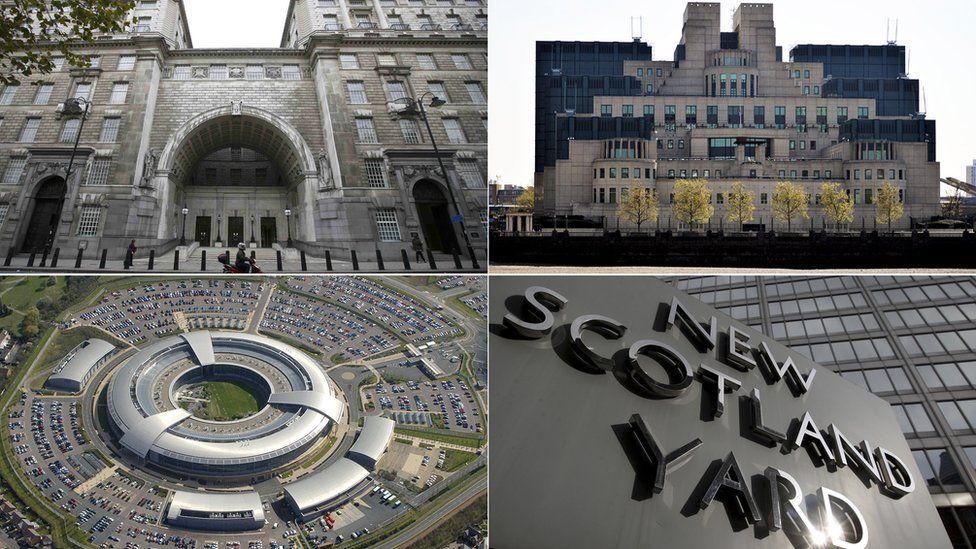 MI5 HQ, MI6 HQ, GCHQ, New Scotland Yard