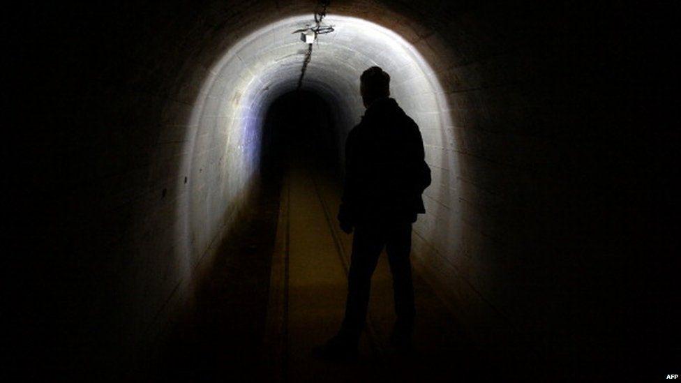 A fortified tunnels in Miedzyrzecz, western Poland
