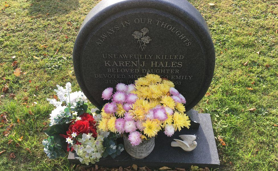 Karen Hales' gravestone at Barham church