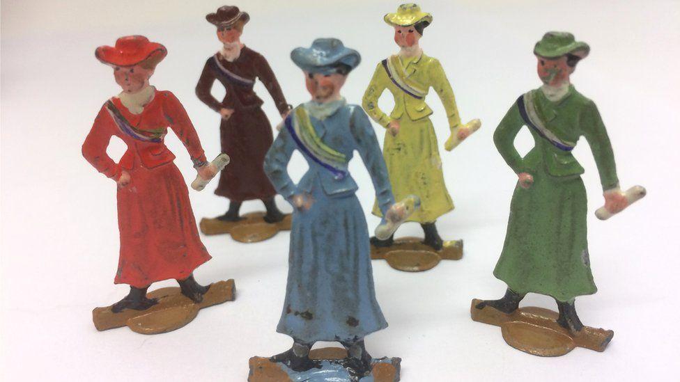 Suffragette board game pieces