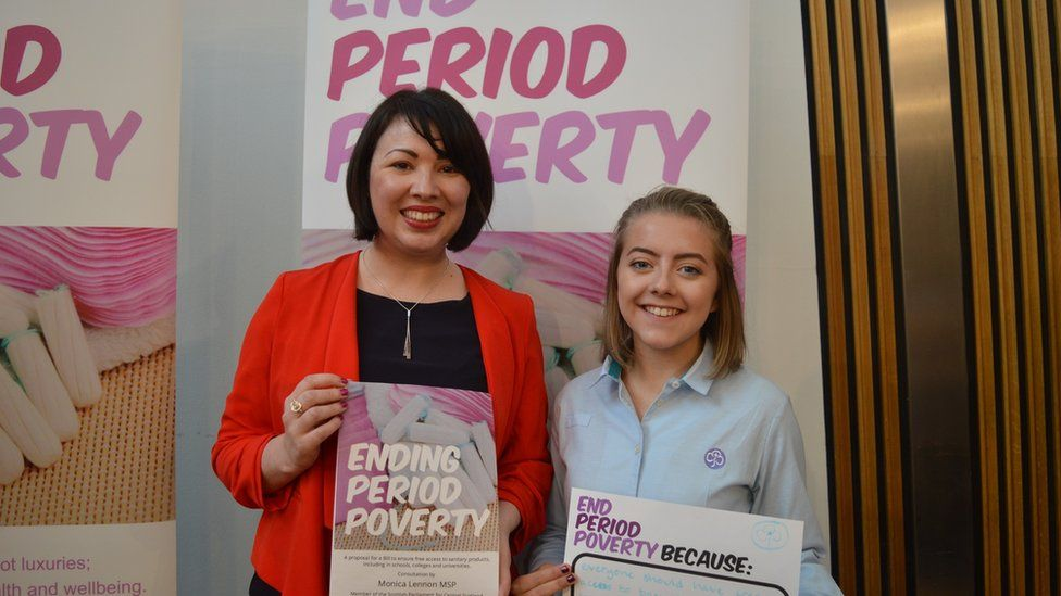 Monica Lennon MSP and Katie Horsburgh
