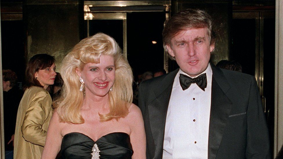Trump and wife Ivanka in 1989