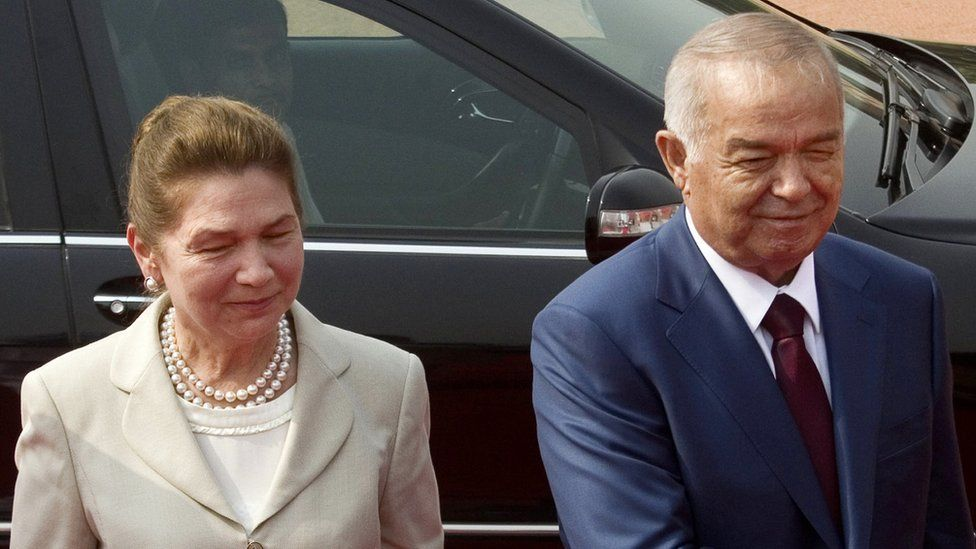Uzbekistan President Islam Karimov and Uzbek First Lady Tatyana Karimova pictured in 2011
