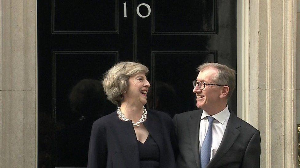 Theresa May and Philip