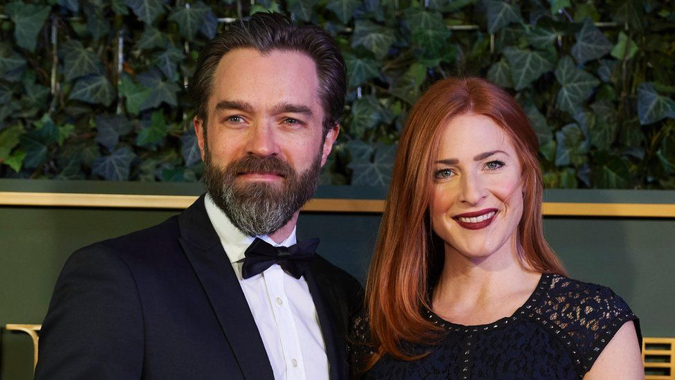 Hadley Fraser with his wife Rosalie Craig