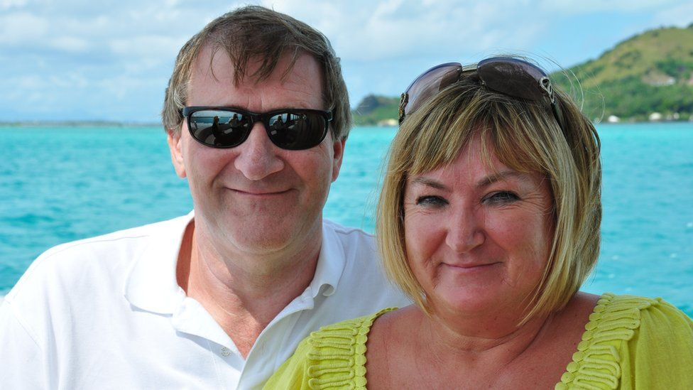Peter Buckle and his wife Wendy, who died in 2011