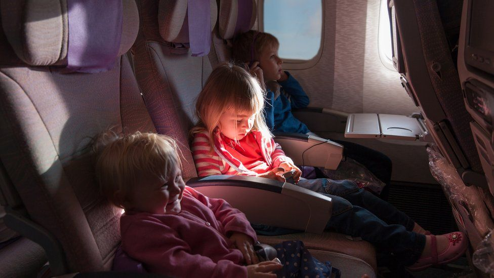 Children on flight