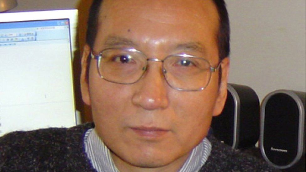 This file handout picture received from the family taken on 14 March 2005 shows 2010 Nobel peace laureate Liu Xiaobo in Guangzhou in southern China.