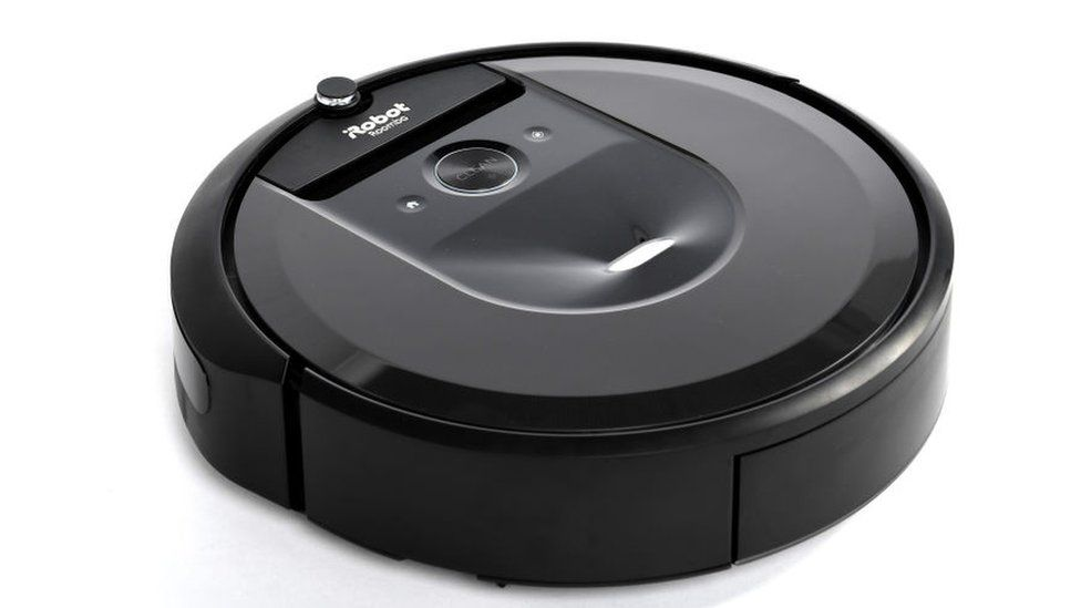 The Roomba i7 model is seen in this product shot
