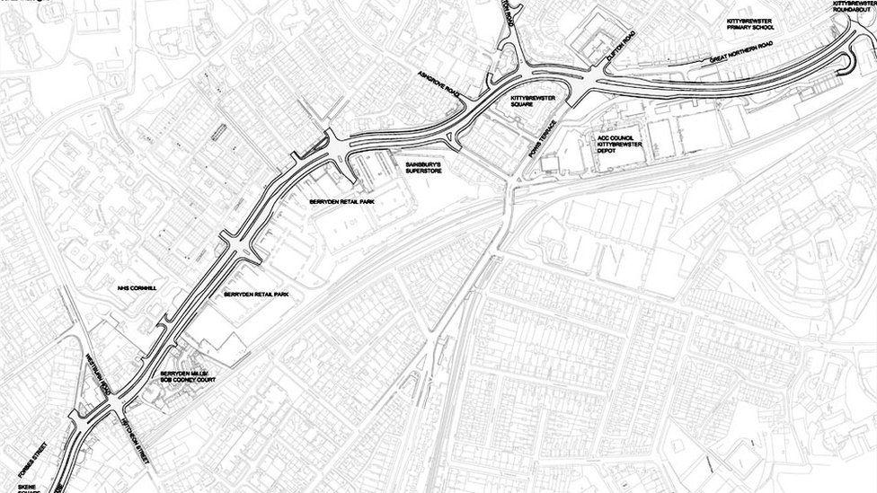 Berryden corridor map