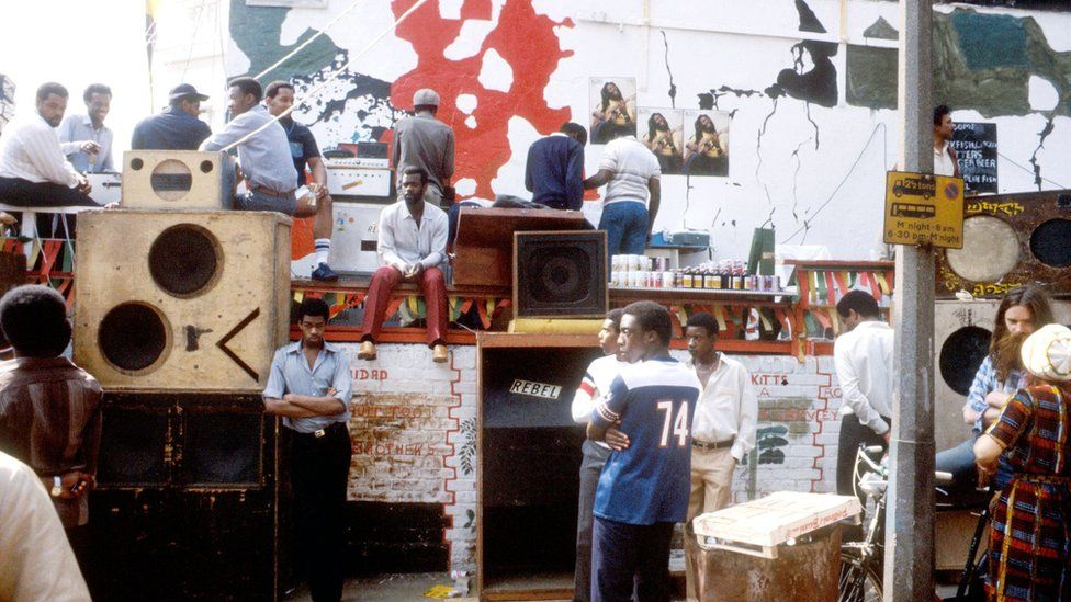 Sound system at carnival in 1981