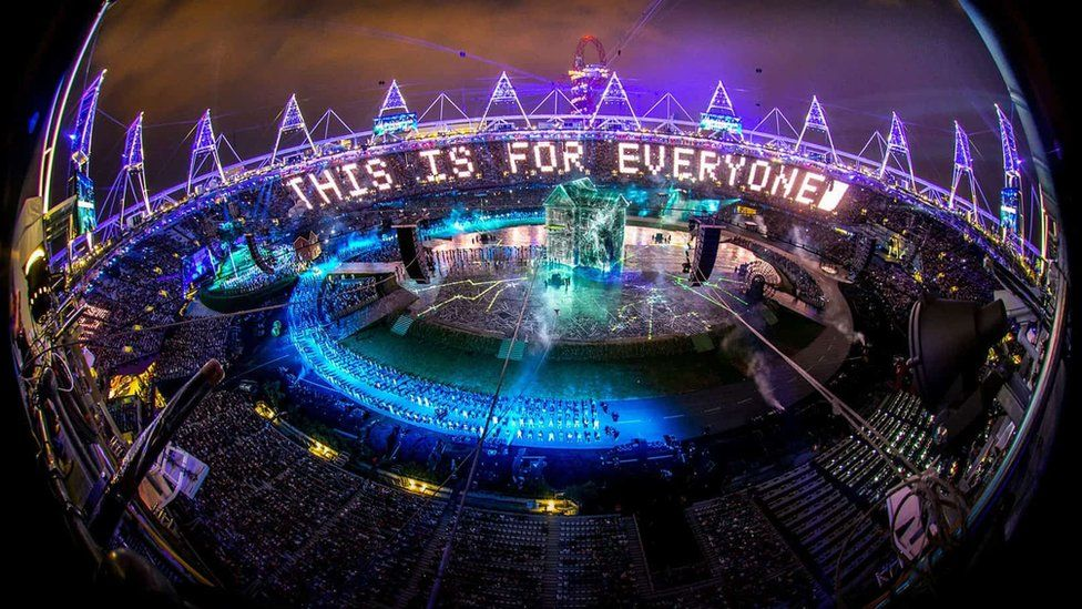 The 2012 London Olympics opening ceremony