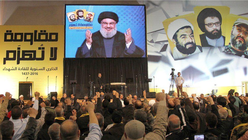 Hezbollah rally in Beirut (Feb 2016)