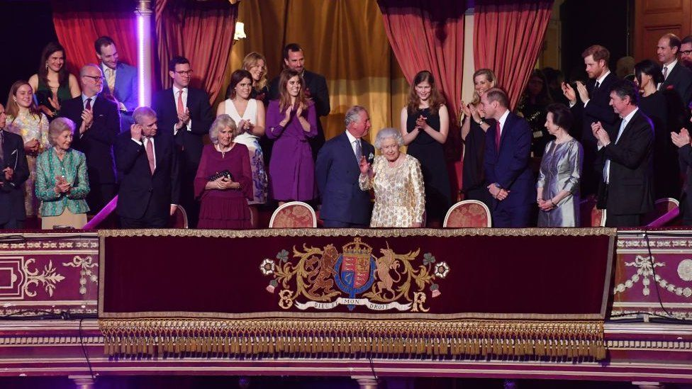 Royal box for The Queen's Birthday Party concert 2018