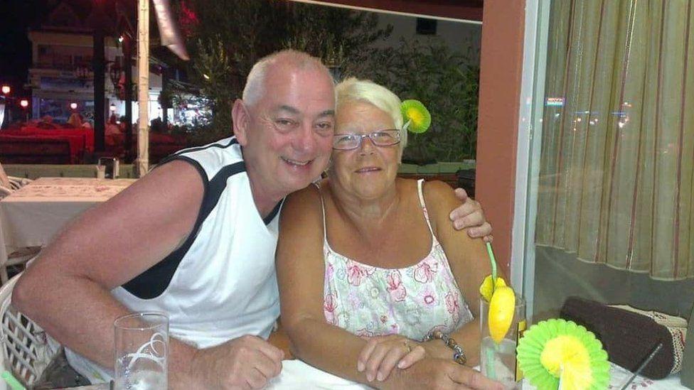 Gareth Roberts with wife Linda