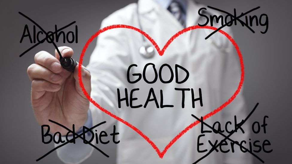 Doctor giving health advice