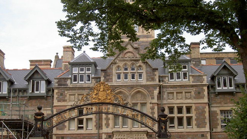 Gate to Cardiff Royal Infirmary