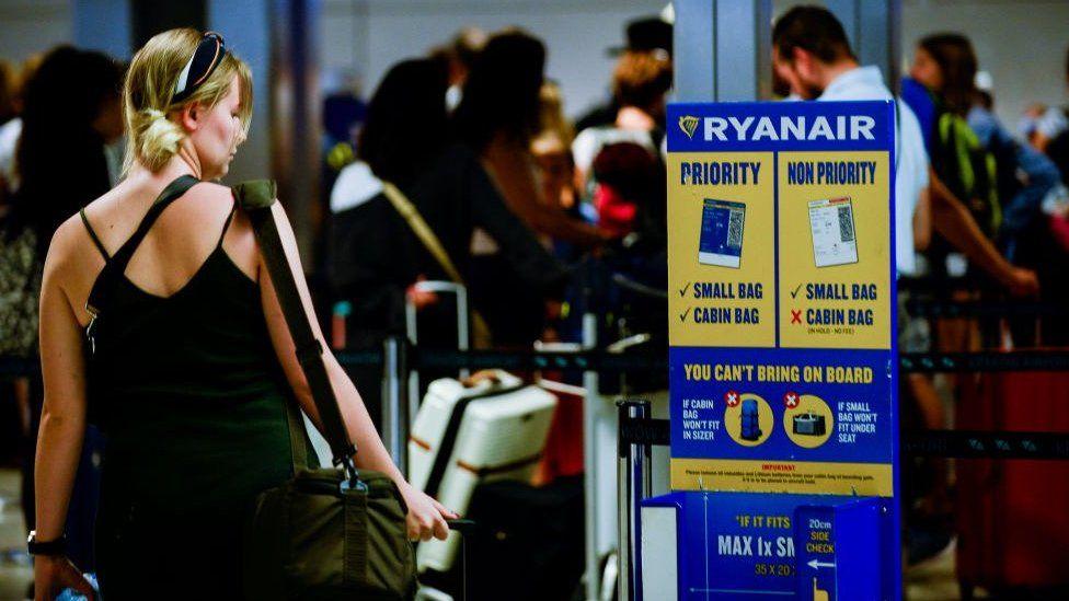 Ryanair passenger